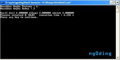 Input Dan Output Float Dalam Bahasa Pemrograman C