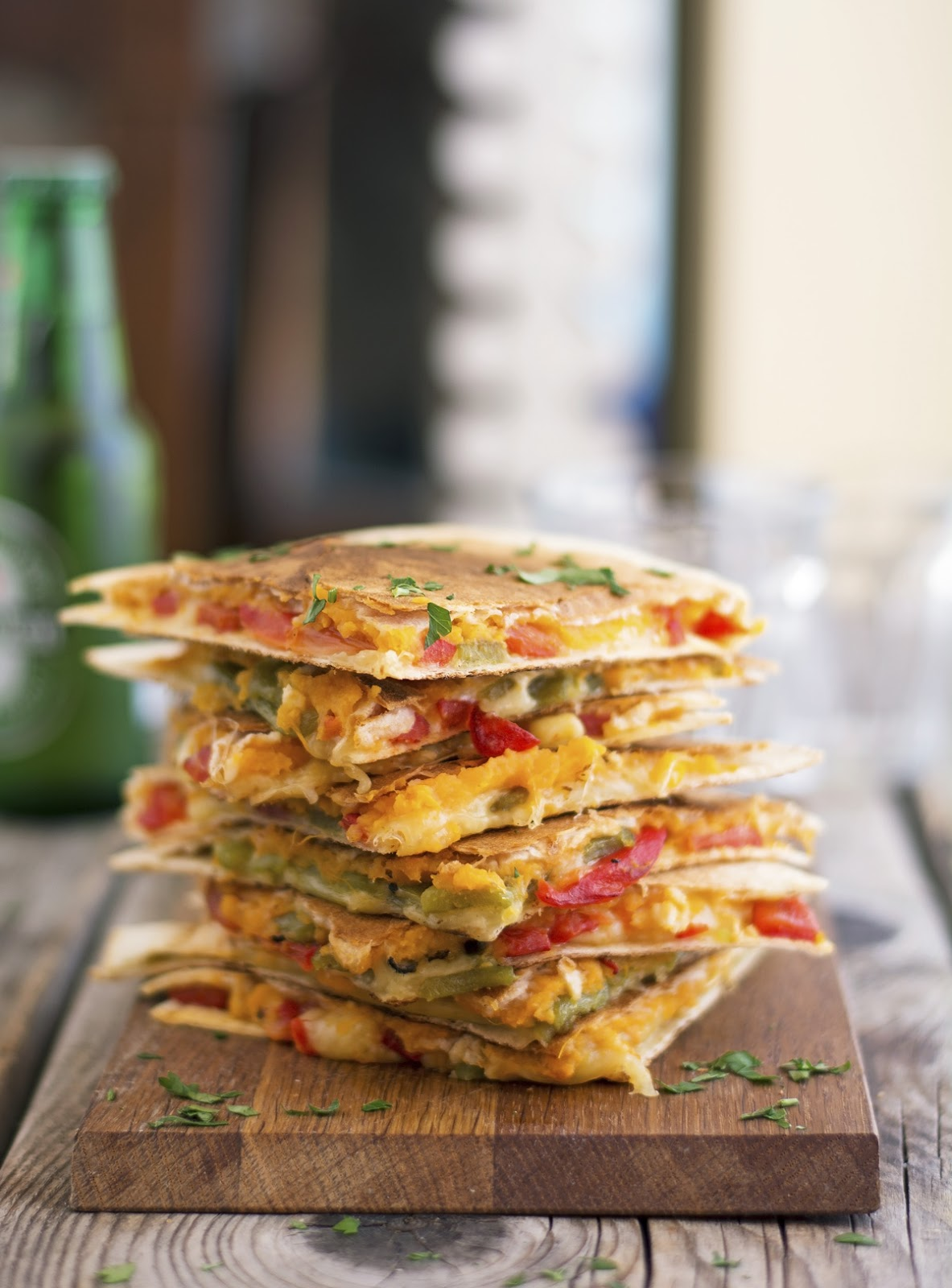 Sweet Potato and Pepper Quesadillas