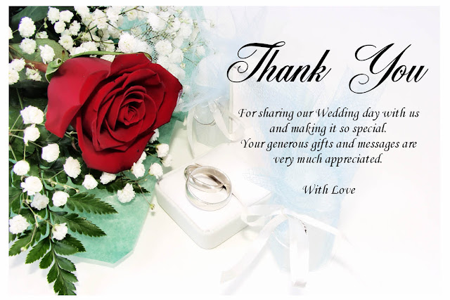 Wedding Thank You Card Examples Recomended for you wedding