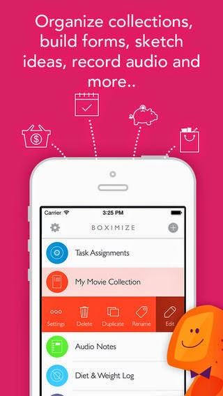 Boximize: Structured note taking app, personal database