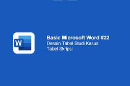 Cara mengedit tabel skripsi di Microsof Word