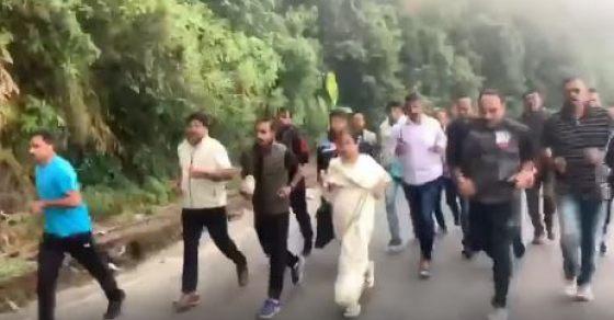 Mamata Banerjee Jogs 10 km With Entourage In Hills Of Darjeeling