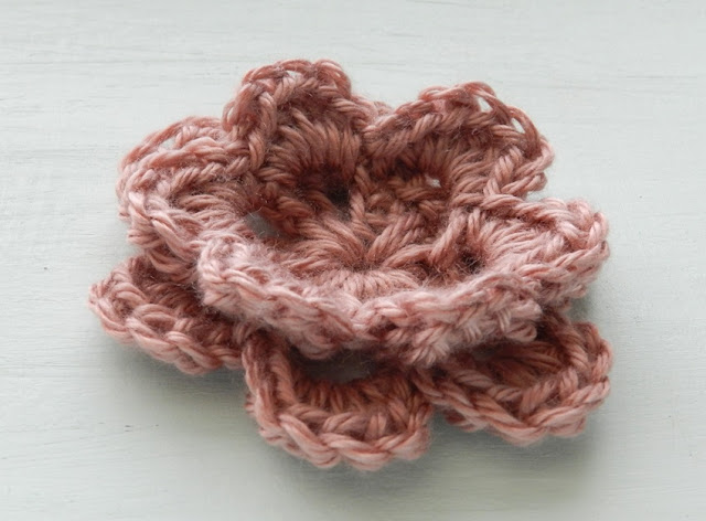 Two Layer Crochet Flower