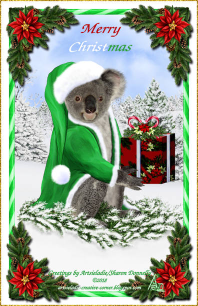 Koala Klaus (in green) art by/copyrighted to Artsieladie