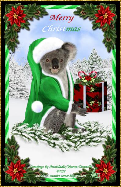 Koala Klaus (in green) art by/copyrighted to Artsieladie