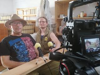 Zdjęcie z wywiadu z pszczelarzem