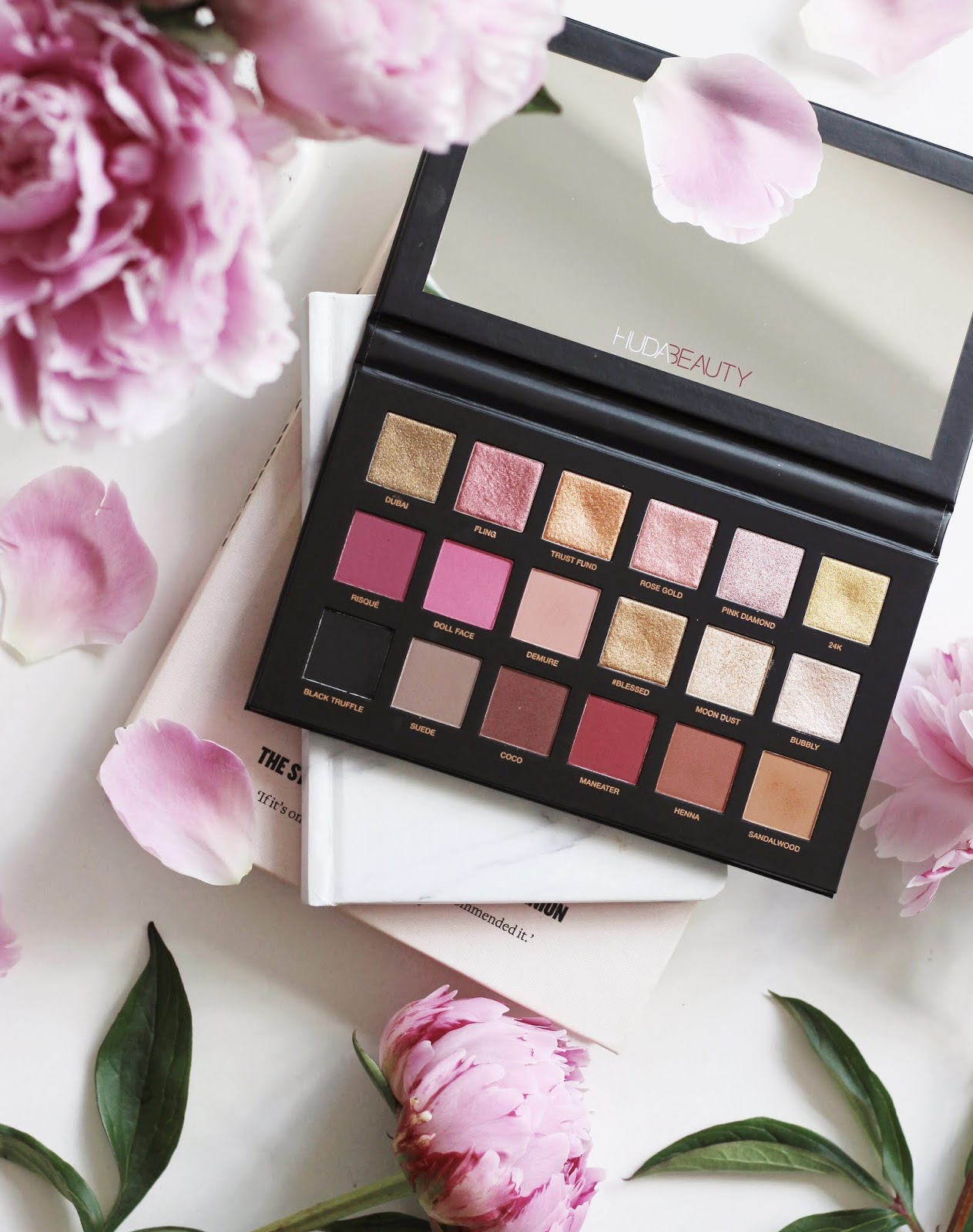 The Huda Beauty Rose Gold Remastered Palette Pint Sized Beauty