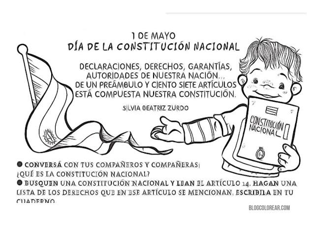 colorear 1 Mayo colorear constitución argentina
