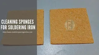 cleaning sponge for soldering iron