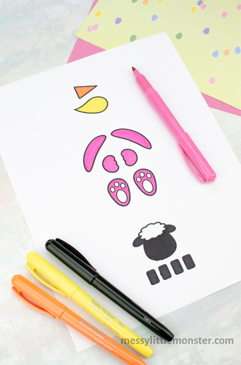 printable Easter craft template