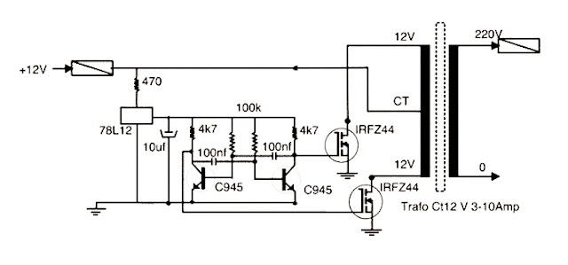 Cara Membuat Inverter Sederhana DC ke AC 1000 Watt Dengan