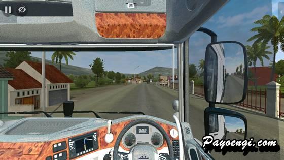 mod bussid truck daf xf trailer muatan komatsu