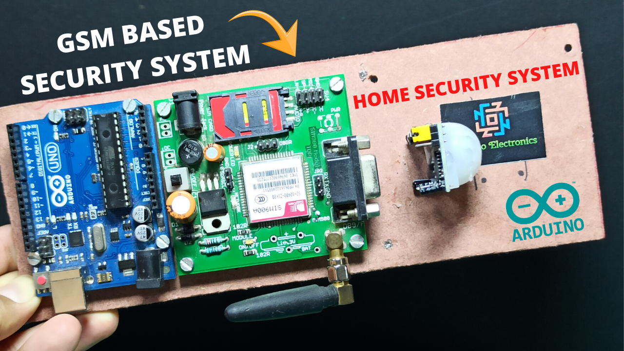 Home Security System Using Arduino  Pir Sensor And Gsm Sim900a
