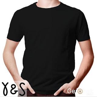 Custom Desain Kaos Pria warna (Y&S)