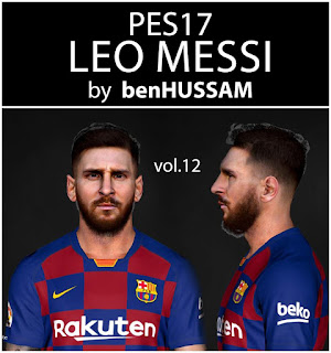 PES 2017 Faces Lionel 🐐 Messi by BenHussam