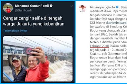 ini Alasan Guntur Romli Unggah Foto Lama Anies-Bima Selfie di Katulampa