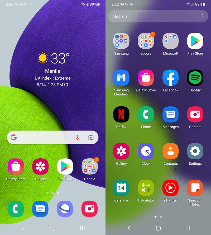 Android 11 with OneUI 3.1 on top