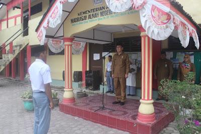 Kakankemenag Buka Pelaksanaan UNBK MAN Tanjungbalai