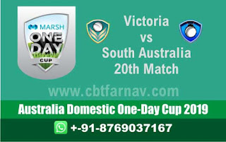 Australia Dom ODI SAU vs VCT 20th Marsh One Day Cup Match Prediction Today Reports