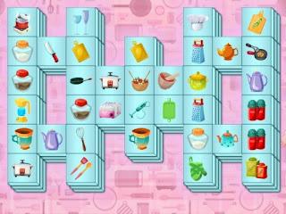 jogo Kitchen Mahjong Game grátis