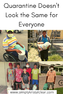 Pictures of different people we gave food bags to