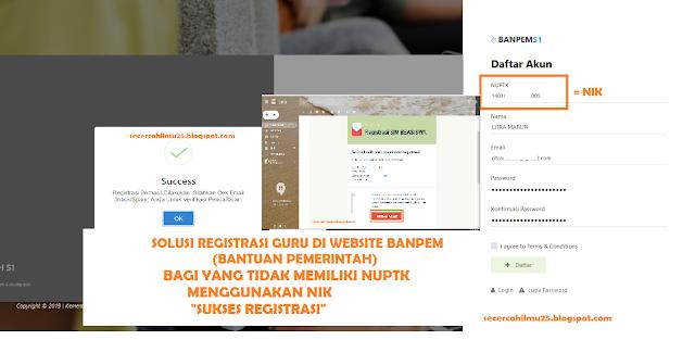 Solusi Registrasi Guru di Website BANPEM Bagi Guru yang Tidak Memiliki NUPTK