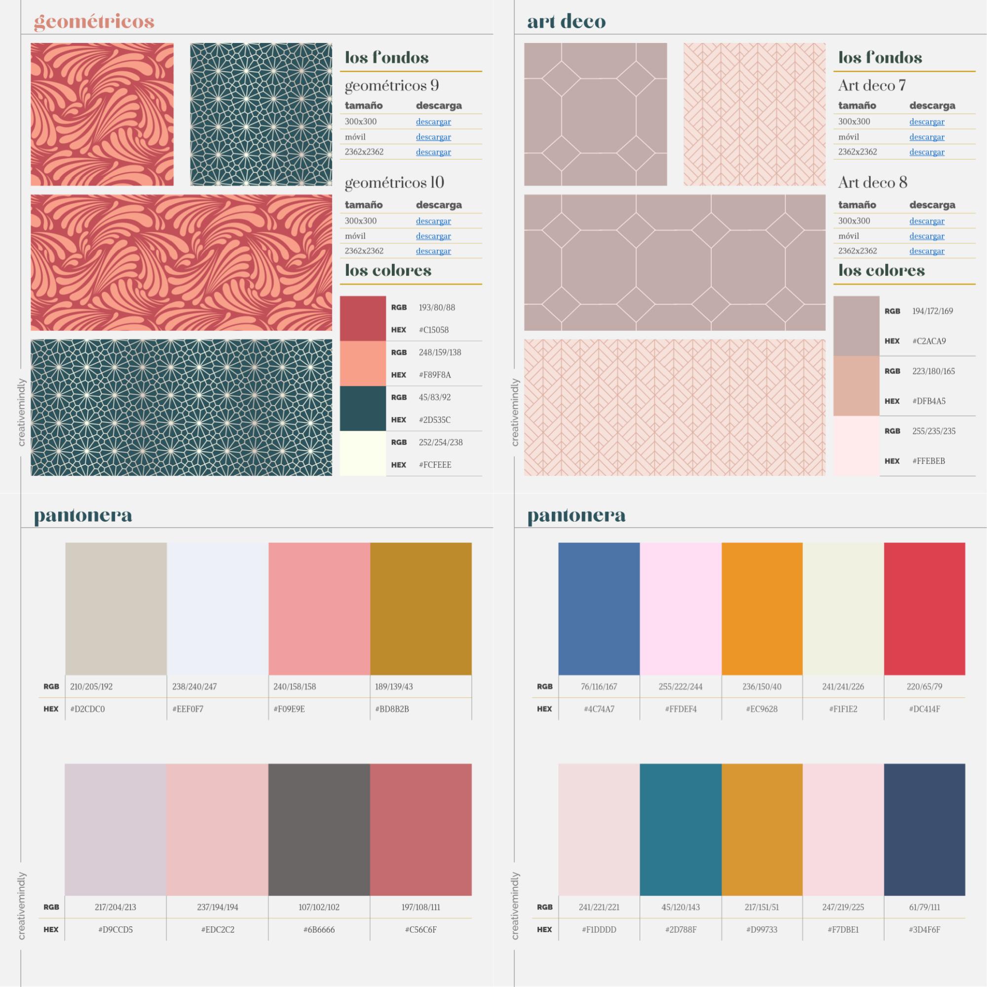 Fondos pattern gratis bonitos descargar