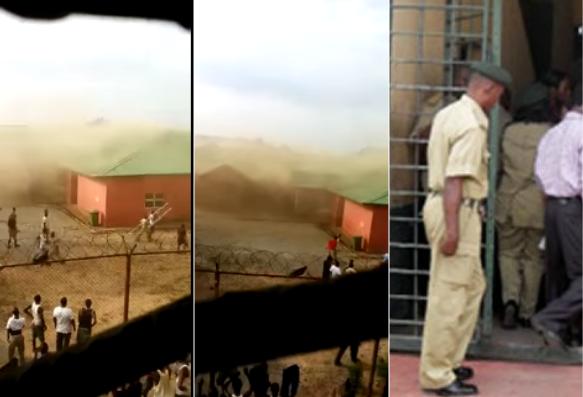 Kuje prison in Abuja is on FIRE
