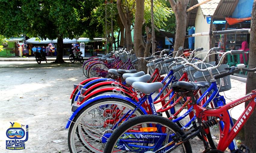 sewa sepeda menuju obyek pulau tidung