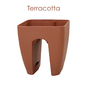 terracotta railing planter