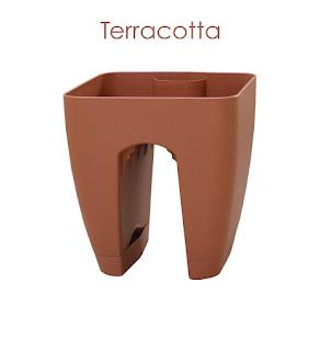 terracotta railing planter