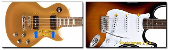 Pastillas para Guitarra Eléctrica con Polaridad Invertida para Reducir Ruidos