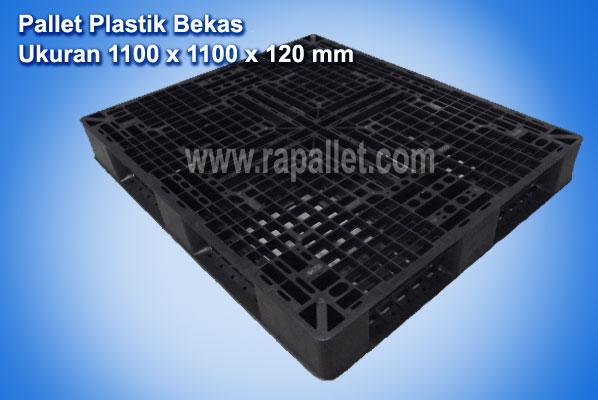 Pallet Plastik Bekas Ukuran 1100 x 1100 x 120