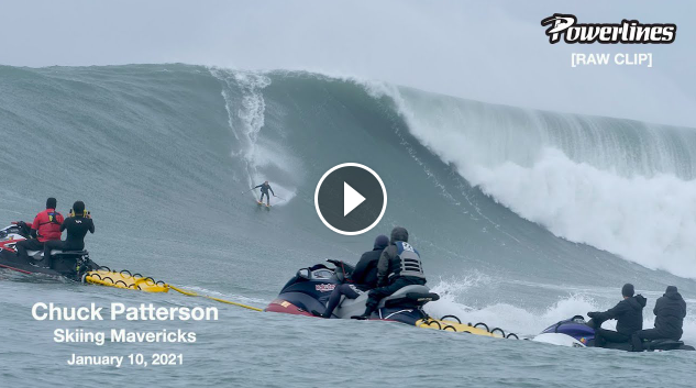 Chuck Patterson Skiing Mavericks January 10 2021 RAW CLIP 🎿
