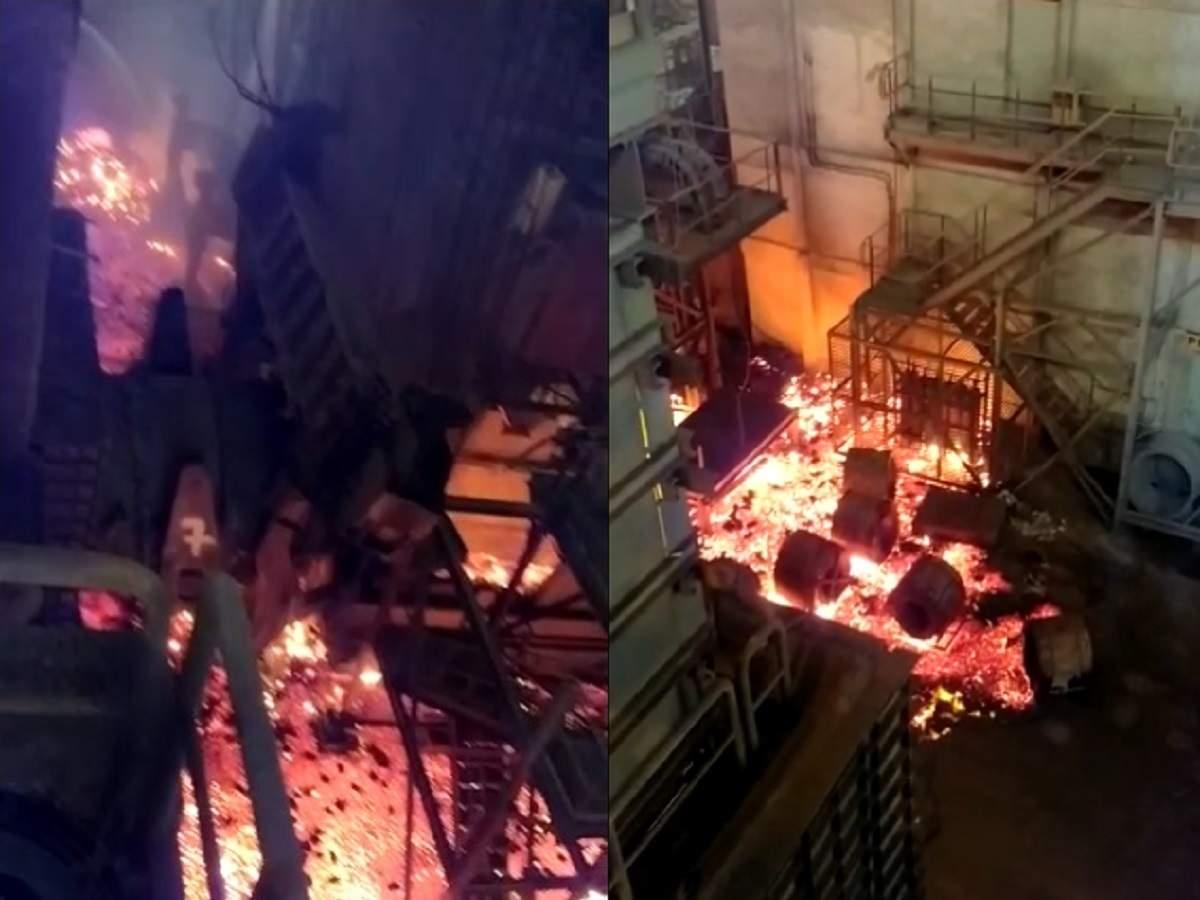 visakhapatnam के स्टील प्लांट में लगे भीषम आग।
