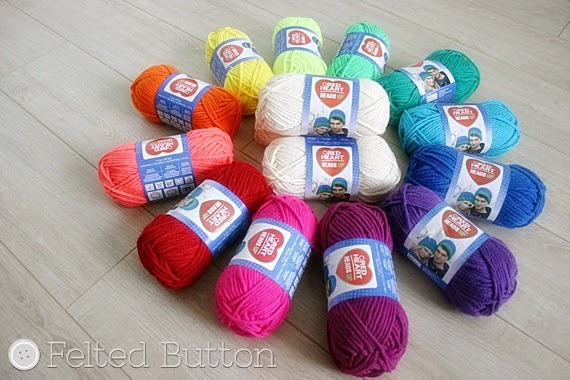 Heads Up Yarn by Red Heart for use in Design Wars Challenge by Susan Carlson of Felted Button
