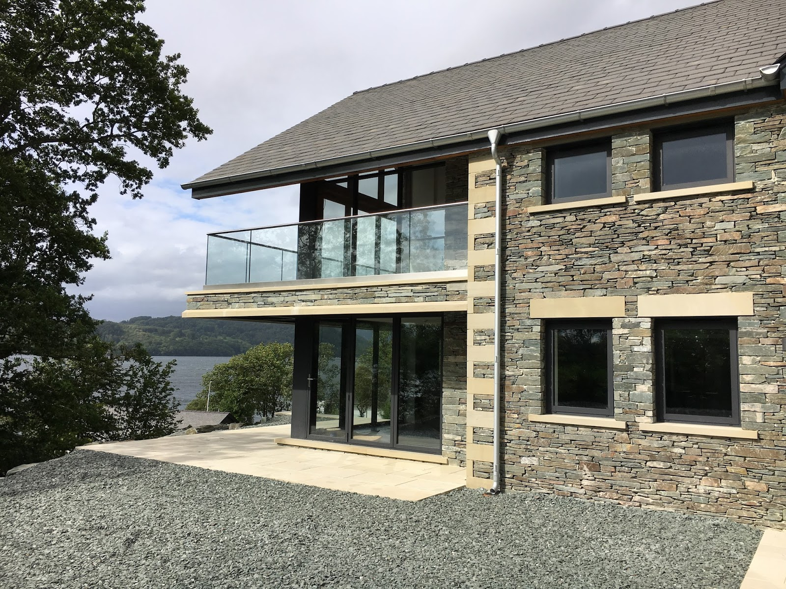 Marlin windows lake windermere contemporary new build house Lake house windows