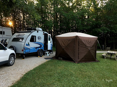 July 25, 2019 Setting up camp at the annual church camping weekend.