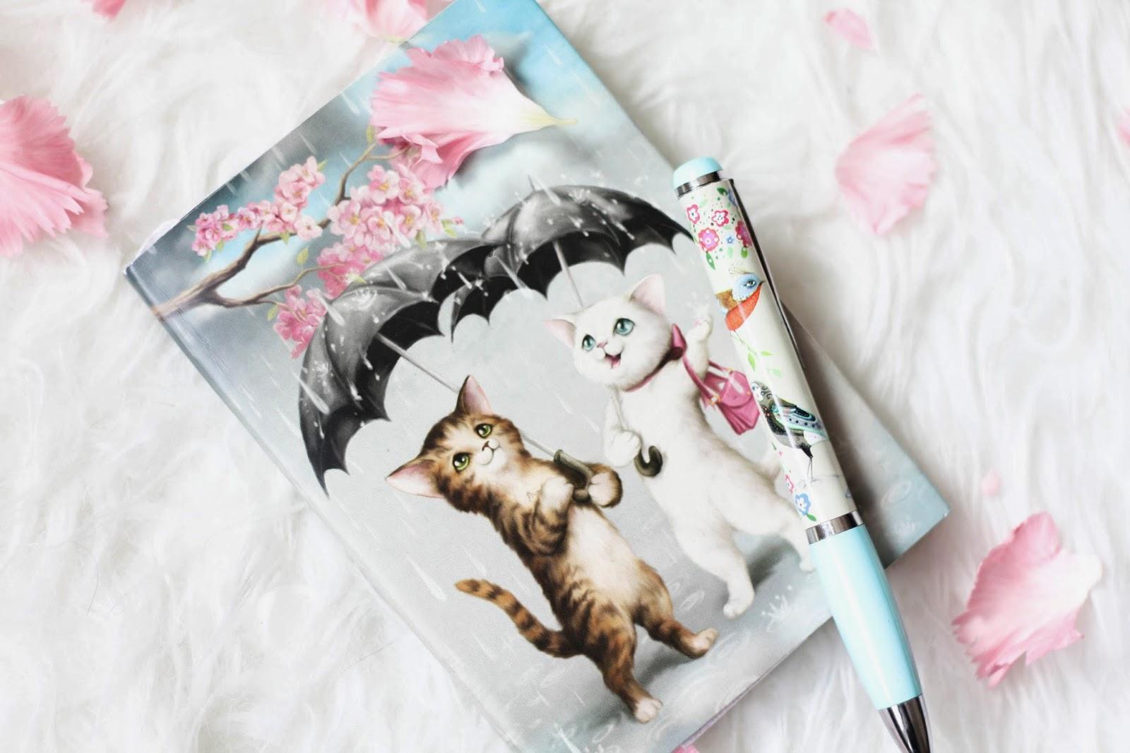 Raining cats journal from Santoro London