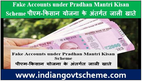 Fake Accounts under Pradhan Mantri Kisan