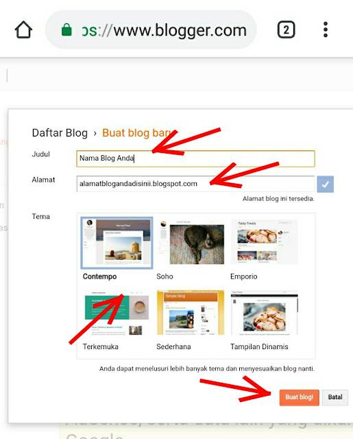 isi info info untuk blog yang ingin anda buat