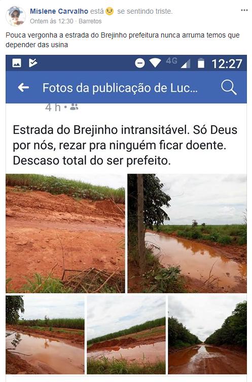 A BARRETOS ABANDONADA: MORADORES DENUNCIAM ISOLAMENTO DO BREJINHO POR CONDIÇÃO DE ABANDONO DA ESTRADA (CULTURA FM DE GUAIRA-SP)