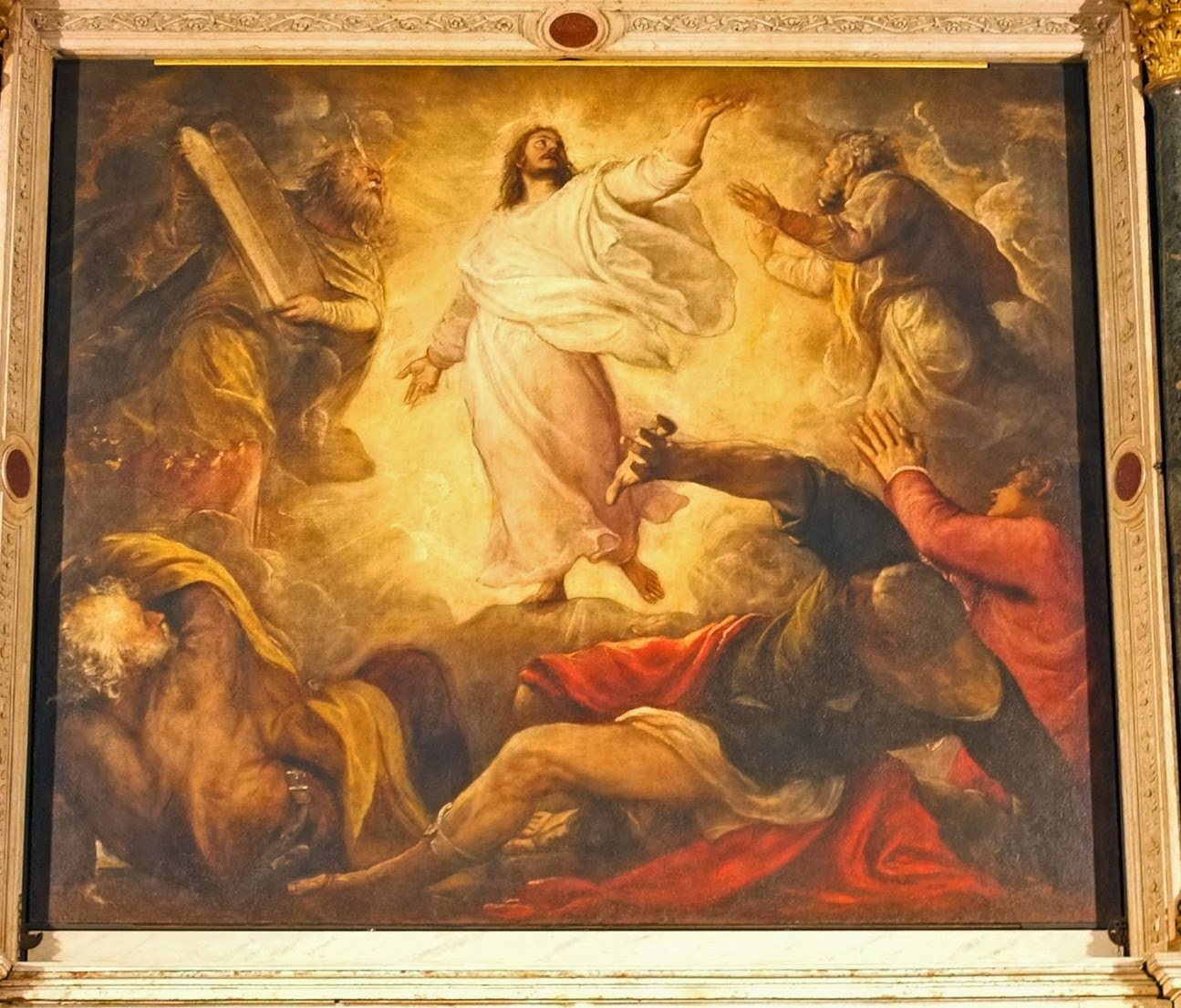 The painting of the Transfiguration by Titian in the church of San Salvador in Venice