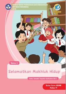 Tema 1 Buku Guru Kelas 6-VI Kurikulum 2013 Revisi 2018