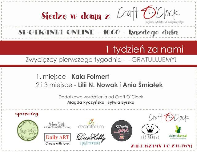 Zwycięskie prace w konkursie Craft O'Clock