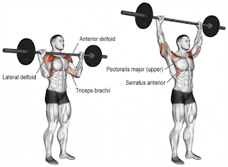 Top-5-Exercises-To-Build-Shoulders, Barbell-Push-Press