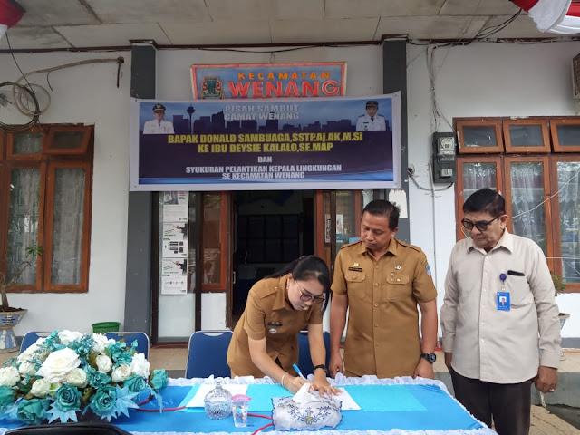 Kecamatan Wenang Gelar Pisah Sambut dari Sambuaga ke Camat Deysi Kalalo