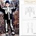 disfraz de esqueleto con patrones de los huesos