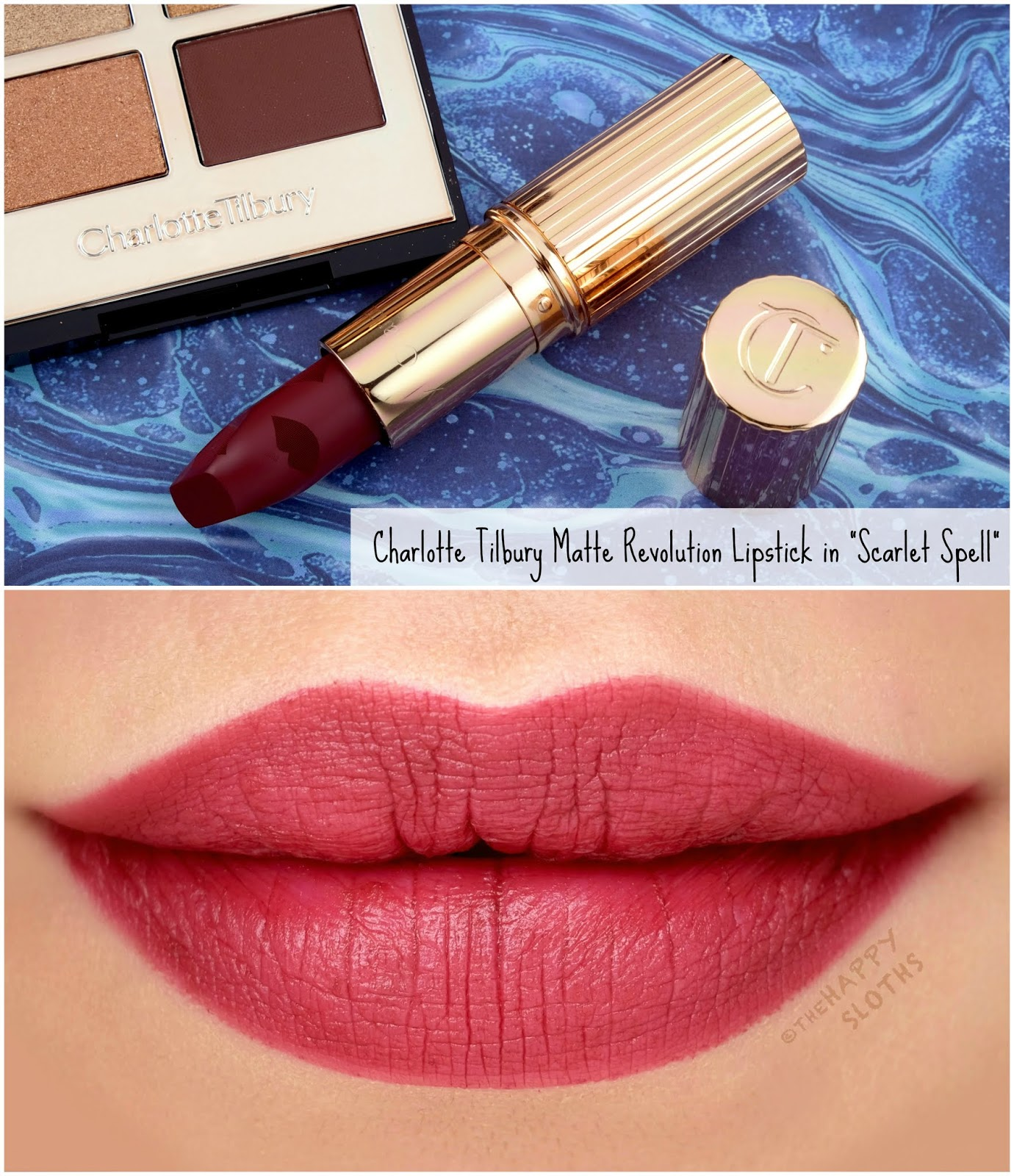 "Charlotte Tilbury | *NEW* Matte Revolution Lipstick in ""Scarlet Spell"": Review and Swatches"