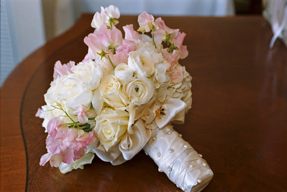 Feminine Spring Wedding Flowers Boston